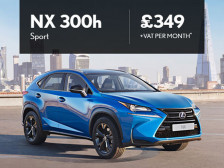 Lexus NX300h Sport from just £349 + VAT per month