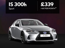 Lexus IS300h Sport from just £339 + VAT per month