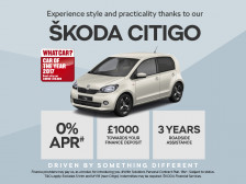 ŠKODA Citigo with 0% APR and £1000 deposit contribution